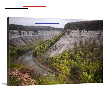 Greatbigcanvas Genesee River Letchworth State Park Ny By Circle Capture Canvas Wall Art 2521235 24 24x16 The Home Depot Letchworthstatepark I 2020
