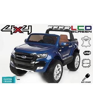 Ford Ranger Pickup 12v 4 Motores Mp4 Azul Metalizado Le2908 Coche Electrico Para Ninos Coche Para Ninos Camioneta Ford Ranger