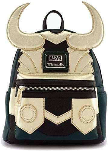 d7999893415d Enjoy exclusive for Loungefly Avengers Loki Faux Leather Mini ...