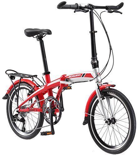 Schwinn Adapt 3 9 Speed Folding Bike Gloss Redsilver 20 Wheel One