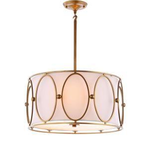 Jonathan Y Violetta 19 In 3 Light Gold White Metal Pendant Jyl9008a The Home Depot Energy Efficient Light Bulbs Drum Chandelier Led Pendant Lights