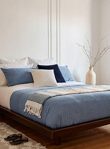 Raw Denim Duvet Cover Set Simons Maison Duvet Covers Bedroom Simons Bedroom Duvet Cover Duvet Cover Sets Blue Duvet Cover