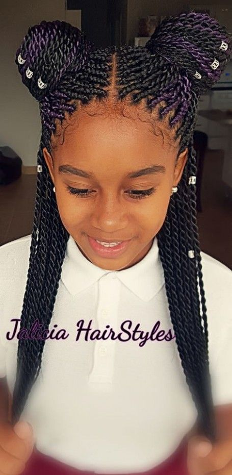 9 Year Old Black Girl Hairstyle In 2020 African Hairstyles For Kids Hair Styles Kids Braided Hairstyles