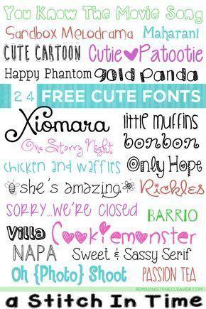24 Free Cute Fonts | Fonts for Crafts | Cute fonts, Fonts, Cricut fonts