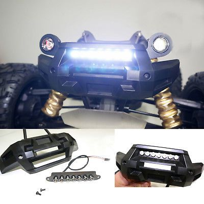 2099 front bumper 7 led light bar lamp lighting for traxxas x front bumper 7 led light bar lamp lighting for traxxas x maxx mozeypictures Images