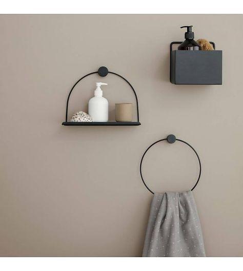 Wandplank Zwart Metaal Hout.Wandplank Bathroom Zwart Metaal Hout 26x10x21cm In 2019 Home Bling