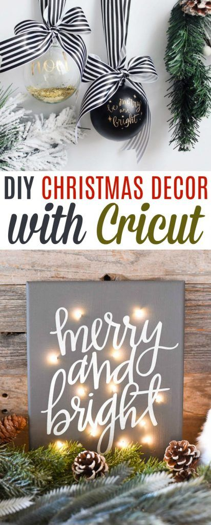 Diy Christmas Decor With Cricut A Little Craft In Your Day Christmas Tree Shop Christmas Decor Diy Christmas Decorations