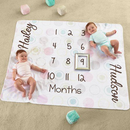 Baby Monthly Milestone Blanket Newborn Boy Girl For Twins Baby Shower Gifts