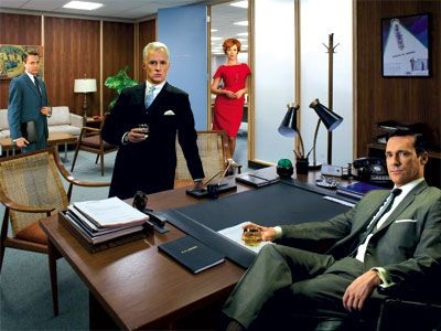 Mad Men Office mad men style a look at 1960's decor | mad men, man office and