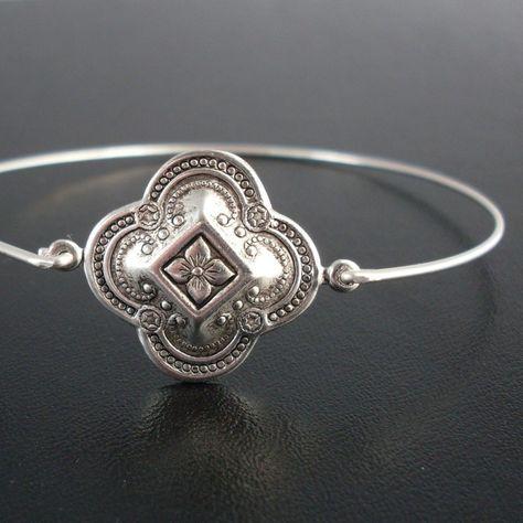 Medieval Bracelet Theme, Kaivana, Silver, Bohemian Style Jewelry, Stack Bangle Bracelet, Bohemian Stack Bracelet, Stacking, Bohemian Jewelry. $11.95, via Etsy.