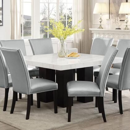 Camilla Collection Cm540pt420wb 54 Square Dining Table With White Marble Top And Hardwood Solids In 2020 Square Dining Tables Dining Room Table Set Buy Dining Table