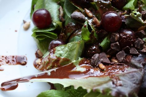 Spring Salad with Dark Chocolate Cardamom Dressing  by Adventures in Cooking