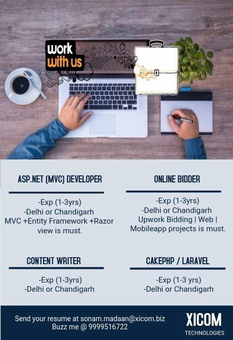 Urgentopenings Asp Net Linq Entityframework Php Cakephp Laravel Businessdevelopment Onlinebidding Webdevelopmen Job Opening Job Posting Hiring Poster