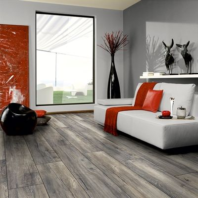 Kronotex 12mm Estate Grey Oak Embossed Laminate Flooring Grey Laminate Flooring Oak Laminate Grey Flooring