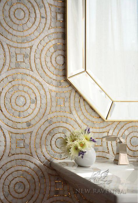 Ideas Kitchen Wall Tiles Mosaic Bathroom For 2019 Mosaic Bathroom, Mosaic Tiles, Stone Bathroom, Mosaic Wall, Bathroom Wall, Bathroom Ideas, Tiling, Mosaic Floors, Stone Mosaic