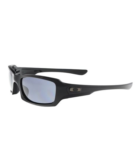 7164b288ec7ab OAKLEY Oo9238 923804 Fives Squared Polished Black Rectangle Sunglasses.   oakley