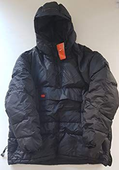 2946e056e Nike Men's Grey Duck Down Feathers Fill Padded Cagoule Style Jacket ...