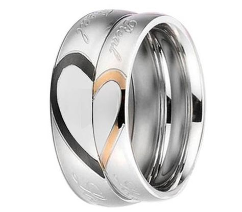 His and Her Titanium Wedding Band Engrave Real by MyMetalRocks, $119.99