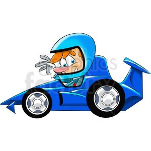 Cartoon Race Car Driver Clipart Royalty Free Clipart 412446 In