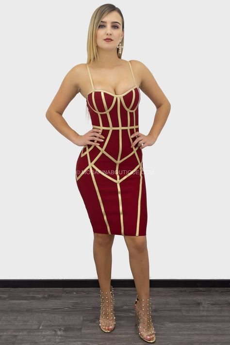Quiana Sleeveless Contrast Bandage Mini Dress