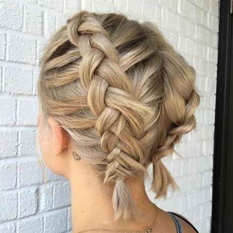 Niederlandische Zopfe Auf Kurzen Fettigen Haaren Kurzhaarfrisuren Zopf Kurze Haare Frisur Hochgesteckt Geflochtene Frisuren