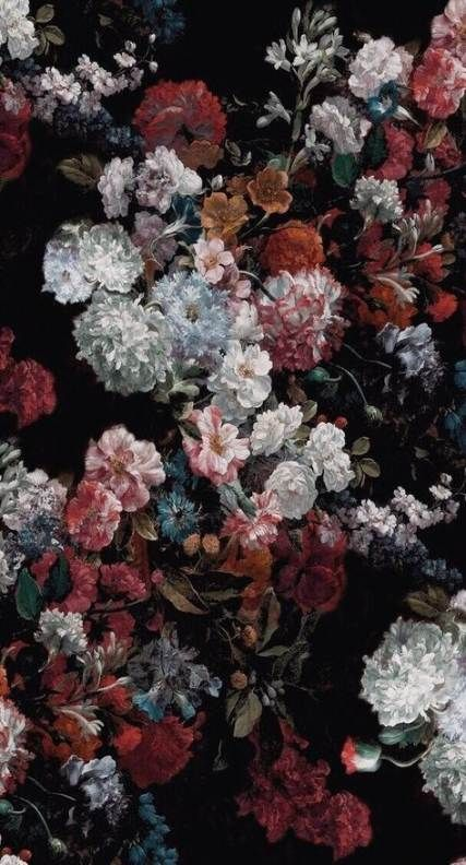 56 Ideas For Flowers Background Black Iphone Wallpapers Black Floral Wallpaper Floral Wallpaper Iphone Painting Wallpaper