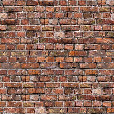 Williston Forge Delvale Brick Removable Peel And Stick Wallpaper Panel Brick Texture Wallpaper Panels Brick Wallpaper