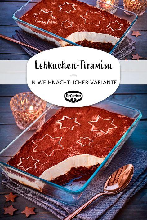 Lebkuchen-Tiramisu: Der italienische Dessert-Klassiker mit Lebkuchen zu Weihnachten #weihnachtsdessert #festessen #weihnachtsessen