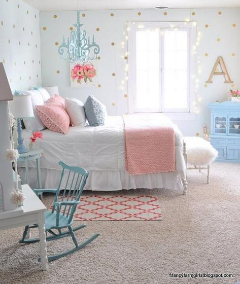 The farmhouse bedroom decoration style is about keeping the things simple an organic. It is classic, elegant and comfortable at the same time. The farmhouse bedroom design allows you to decorate with variety of accessories and furnishings that add a touch Girls Bedroom Furniture, Kids Bedroom, Girl Bedrooms, 4 Year Old Girl Bedroom, Girls Bedroom Decorating, Tween Girl Bedroom Ideas, 10 Year Old Girls Room, Ikea Girls Room, Childrens Bedrooms Girls