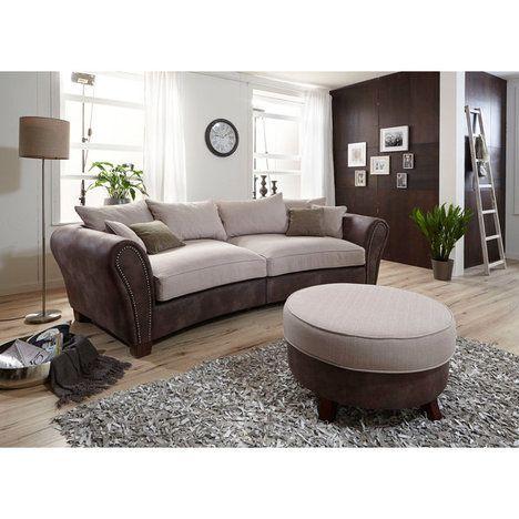 Big Sofa - braun-beige - Federkern - inklusive Kissen | Wohnen ...