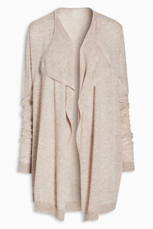 Buy Merino Wool Blend Waterfall Cardigan online today at Next ...