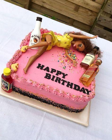 21st Birthday Cake For Girls, 21st Birthday Presents, Barbie Birthday Cake, 21st Bday Ideas, Funny Birthday Cakes, 21st Birthday Cakes, 19th Birthday, Birthday Ideas For Women, 21st Birthday Ideas For Girls Turning 21