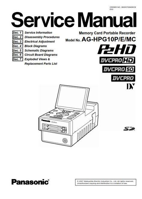 Panasonic AG-HPG10 Portable P2 Gear Player Recorder