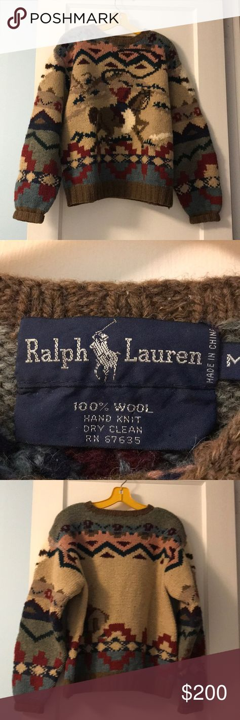 46cf0a2b3 Vintage Ralph Lauren hand knit sweater Vintage Navajo-patterned from the  80 s and in excellent