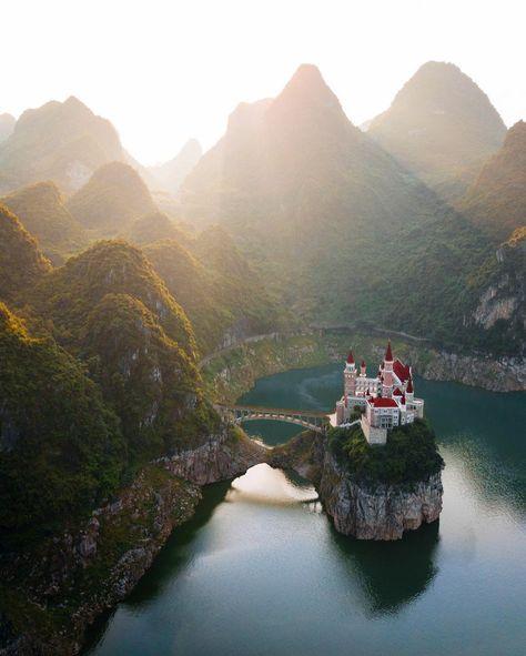 A castle hidden in the mountains, Xingyi, Guizhou, China : MostBeautiful