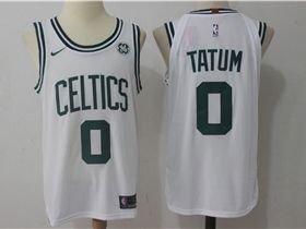 brand new b2604 0cf8b Boston Celtics #0 Jayson Tatum White Authentic Jersey ...