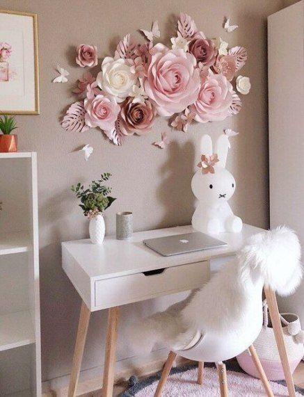 57 Ideas Diy Decorao Flowers Girl Rooms Paper Flower Wall Decor Nursery Wall Decor Paper Flower Decor