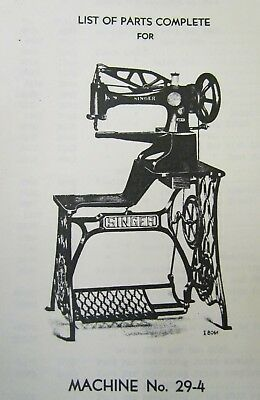 29 4 29 K Trouble Shooting Manual W Parts List Instructional Manual Singer Sewing Machine Vintage Sewing Machine Tattoo Sewing Machine Accessories