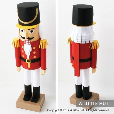 Nutcracker gift set!! I want this! How cool is this paper nutcracker?!