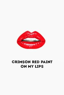 Love My Red Lip Stick Taylor Swift Lyrics Cute Romantic Quotes