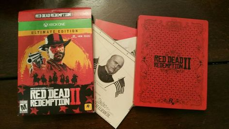 Red Dead Redemption 2 Ultimate Edition Xbox One Steelbook Map