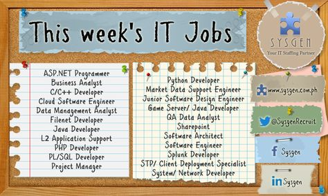 This weeku0027s IT #Jobs Weu0027re looking for Software #Engineer, #Java - software engineer job description
