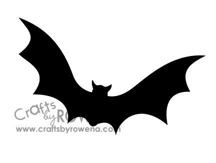 Print bat templates Cut out\u2026 Punch a hole in each bat holiday