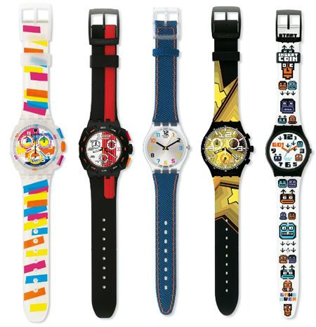I remember just dying to get some of these Swatch Watches. My goal was to wear 3 together on my wrist and one on my ankle. Clearly, I was cool.