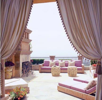 very moroccan-ish porch...