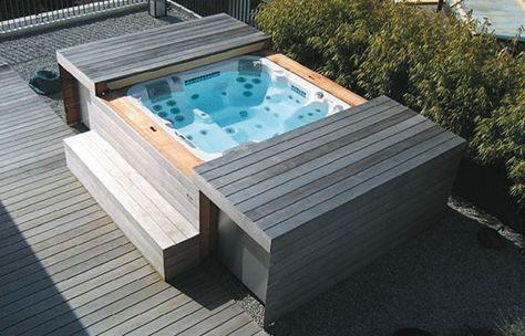 MSpa Delight Aurora D-AU06 aufblasbarer Whirlpool Garten and Atv - reihenhausgarten und pool