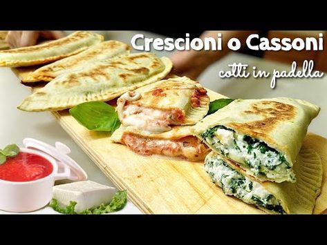 CRESCIONI o CASSONI cotti in Padella  Ricetta tipica Romagnola