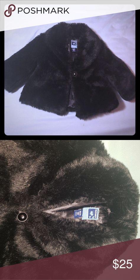 f22589cf6ee8 Old Navy black faux fur jacket sz 18-24m in 2018