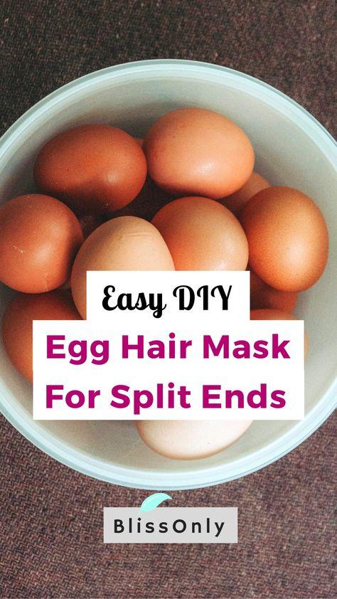 Easy DIY Egg Hair Mask For Split Ends