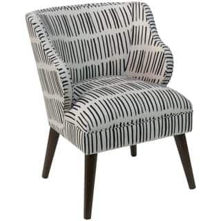 Peachy Skyline Furniture Modern Accent Chair In Dash Black White Machost Co Dining Chair Design Ideas Machostcouk